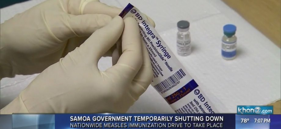 Samoan government temporarily shuts down for nationwide measles vaccination drive